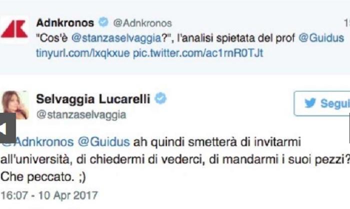 Selvaggia Lucarelli, prof universitario Guido Saraceni la attacca su Fb e lei...