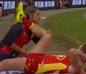 Massaggio inguinale della fisioterapista al calciatore Brandom Matera diventa virale