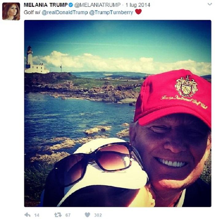 Melania Trump, su Twitter poche FOTO di famiglia. Ma c'è uno schema...