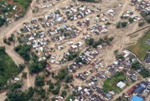 YOUTUBE Frana in Colombia, oltre 200 morti a Mocoa: la devastazione vista dall'elicottero (foto Ansa)