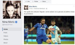 """Nina Moric contro Higuain: """"Provate voi a giocare al settimo mese di gravidanza"""""""