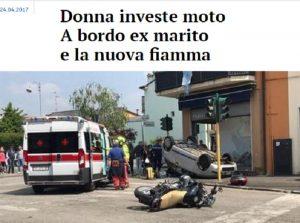 Verona, investe motocicletta: a bordo c'erano l'ex marito e la nuova fidanzata...