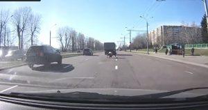 Mucca cade da camion in strada, automobilisti nel caos