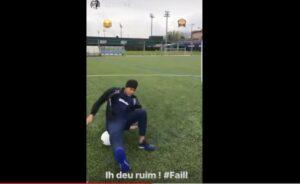 YOUTUBE Neymar compie gesto atletico, ma finisce malissimo