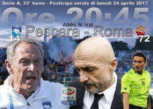 Pescara-Roma streaming - diretta tv, dove vederla (Serie A)