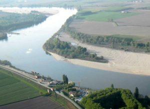 Fiume Po si sta spostando verso Nord, nel 1570 si spostò di 40 chilometri