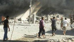 Siria, sospetto attacco con gas da parte del regime (foto Ansa)