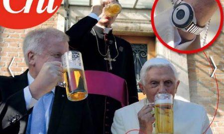 """Joseph Ratzinger e lo strano orologio """"salva-vita"""": che cos'ha il papa emerito al polso?"""