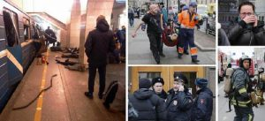 """San Pietroburgo, i testimoni: """"Il botto, poi i cadaveri per terra"""" (foto Ansa)"""