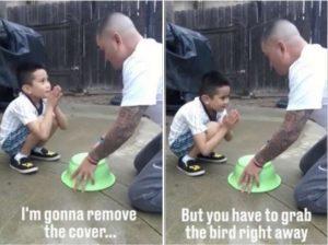 """Padre organizza scherzo a figlio: """"Alza la scodella e..."""". Ma finisce malissimo"""