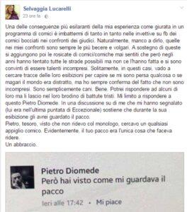 """Pietro Diomede: Selvaggia Lucarelli mi guardava il pacco"""". Lei: """"Faceva ridere..."""""""