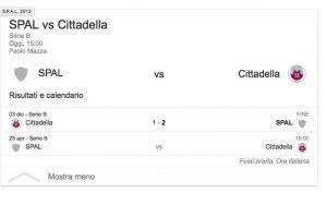Spal-Cittadella streaming - diretta tv, dove vederla. Serie B
