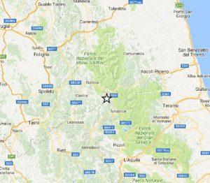 Terremoto Accumoli, scossa di magnitudo 2. Altre due scosse a Norcia