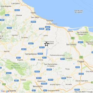 Terremoto Campobasso, scossa del 2.8 tra Colletorto e San Giuliano di Puglia