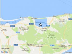 Terremoto Foggia, scossa di magnitudo 4 tra Cagnano Varano e Carpino