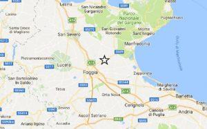 Terremoto Foggia, scossa di magnitudo 2,6. Epicentro tra Carapelle e Orta Nova