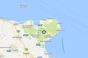 Terremoto Puglia, scossa del 2.5 tra Monte Sant'Angelo e Manfredonia su Gargano