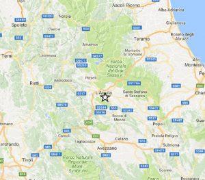Terremoto L'Aquila, scossa di magnitudo 2,4. Epicentro a Ocre