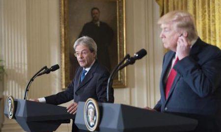 """Donald Trump: """"Ho parlato con Gentiloni. L'Italia pagherà di più per la Nato"""""""