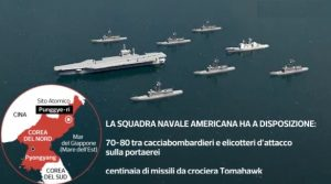 Usa, porteaerei Carl Vinson e flotta Aegis puntano verso la Corea del Nord