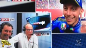 """Valentino Rossi ai telecronisti Sky: """"Ma non siete in Argentina?"""". E Guido Meda..."""