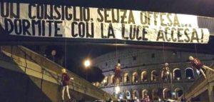 """Manichini impiccati al Colosseo: """"Il Messaggero"""" parla di """"Diabolik"""""""