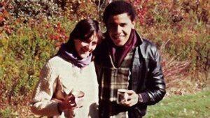 Genevieve Cook e Barack Obama al college