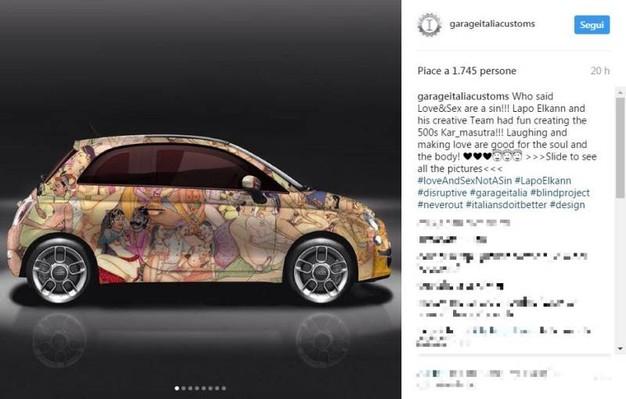 Lapo elkann ultima provocazione su instagram le 500 kar for Fiat 500 karmasutra