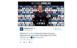 Calciomercato Atalanta, Andreas Cornelius è ufficiale dal Copenaghen