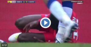 YouTube, Marco Verratti gol con calciatore a terra (VIDEO)