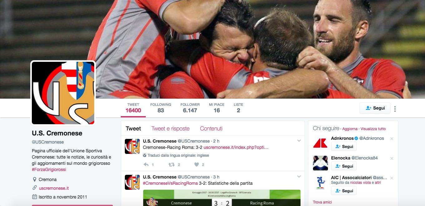 Cremonese torna in Serie B dopo 11 anni: 3-2 alla Racing Roma