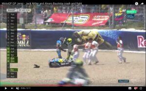 YouTube, MotoGp Jerez: Jack Miller e Alvaro Bautista incidente e rissa sfiorata
