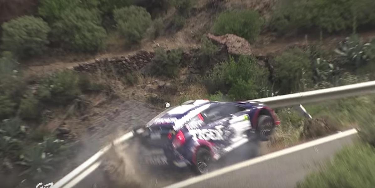 YOUTUBE Incidente al Rally delle Canarie: auto sull'orlo di un dirupo