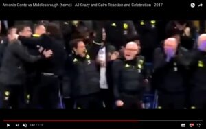 YouTube, Antonio Conte: esultanza e standing ovation dei tifosi del Chelsea