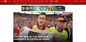 "Francesco Totti a Miami con Alessandro Nesta: lo rivela ""As.com"""