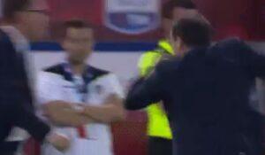 Juventus-Lazio, Allegri furioso durante finale di Coppa Italia