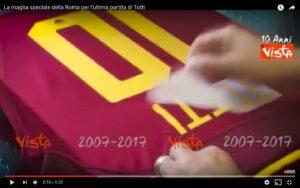 YouTube, Francesco Totti: maglia speciale per Roma-Genoa