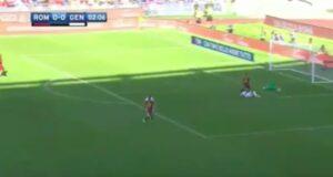Pietro Pellegri meglio di Kean: video con il gol in Roma-Genoa