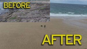 Irlanda, l'oceano restituisce la spiaggia di Achill Beach: 33 anni fa fu cancellata da una mareggiata