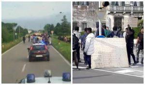 Bagnoli di Sopra, migranti in protesta: vogliono cibo migliore