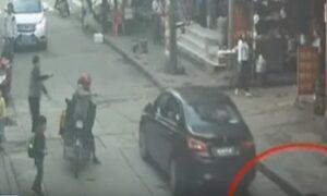 YOUTUBE Le passa sopra un'auto: bimba salva per miracolo