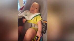 """Bennett, il bimbo di tre mesi che dice alla mamma """"ti voglio bene"""""""