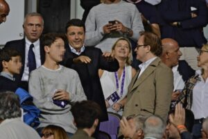 Matteo Renzi allo stadio per seguire la 'sua' Fiorentina (foto Ansa)