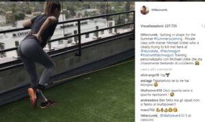 """Elisabetta Canalis si allena VIDEO: """"Il mio personal trainer sta tentando di uccidermi"""""""