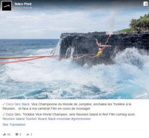 Funambola non riesce a raggiungere scogliera: il mare è in tempesta