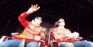 Ferrari Land, Raikkonen impassibile sull'acceleratore verticale