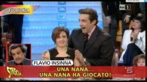 """Flavio Insinna insulta Rosy Seracusa: """"Nana"""". Lei: """"Lo porterò in tribunale"""""""