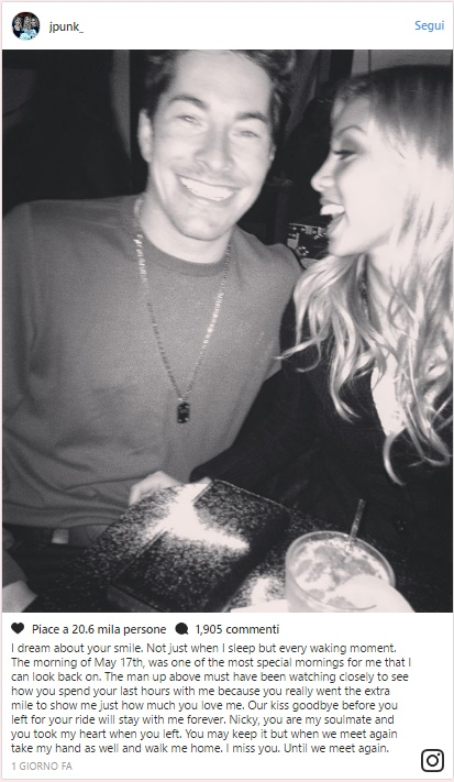 Nicky Hayden, la fidanzata Jackie Marin su Instagram