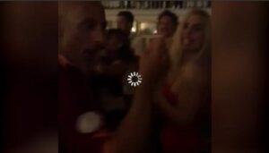 Ilary Blasi balla Maracaibo al ristorante dell'Aventino per la cena di Totti