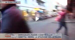 """Roma, denunciato aggressore troupe di """"Dalla vostra parte"""" alla stazione Tiburtina"""